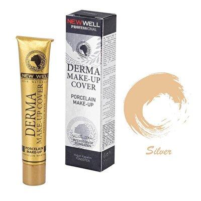 Derma Makeup Cover Porselen Fondöten Silver
