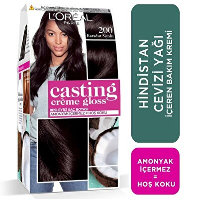 Creme Gloss Saç Boyası Karadut Siyahı No. 200