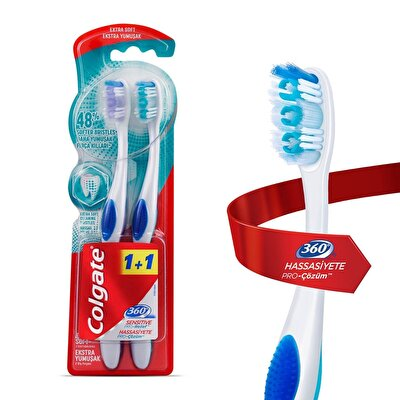 360 Hassasiyete Pro Çözüm Diş Fırçası Extra Yumuşak 1+1