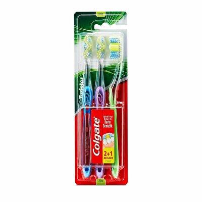 Twister Diş Fırçası Orta 2+1 Spiral Fırça kılları ile Derin Temizlik