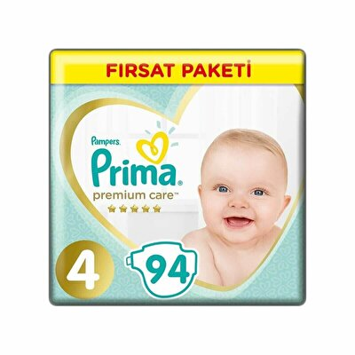 Premium Care Bebek Bezi Fırsat Paketi 4 Beden 94 Adet