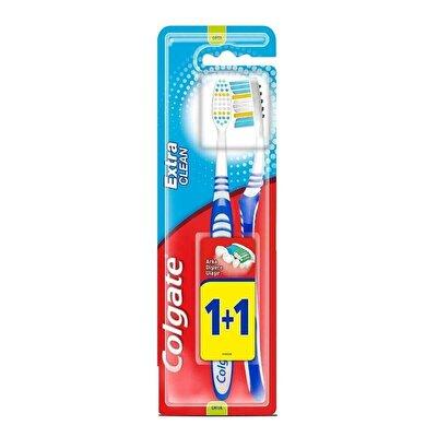 Extra Clean Diş Fırçası Orta 1+1 Temizeyici Fırça Kılları