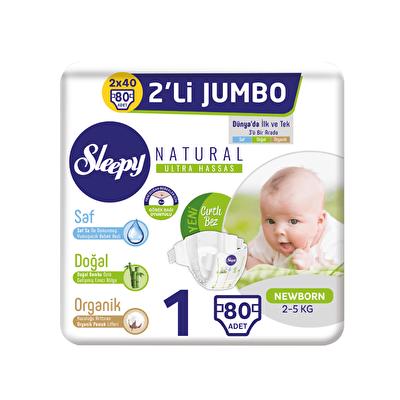 Sensitive Pepee Newborn 1 Beden 80 Adet İkili Jumbo