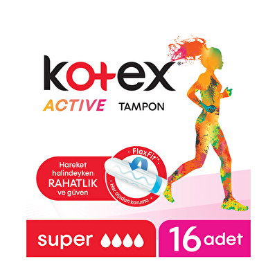 Active Super Tampon 16 Adet