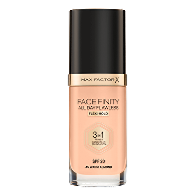 Facefinity 3'ü 1 Arada Fondöten No: 45 Warm Almond