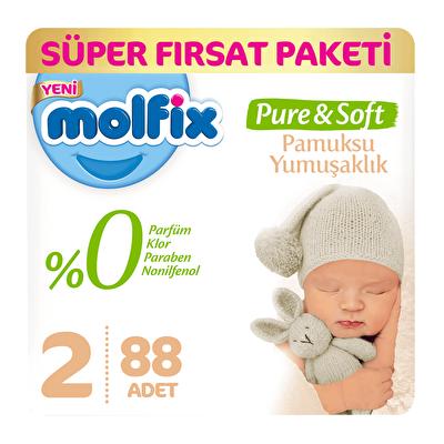 Pure and Soft Mini Süper Fırsat Paketi 2 Beden 88 Adet