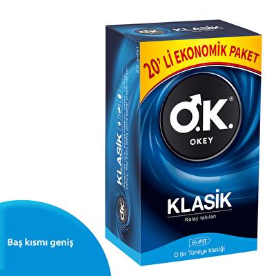 Klasik Prezervatif Ekonomik Paket 20 Adet