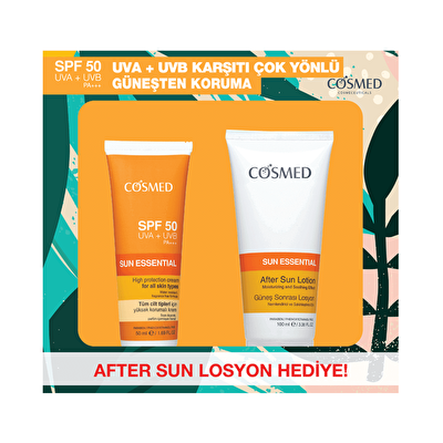 Sun Essential Güneş Losyonu SPF 50 ml ve After Sun Seti
