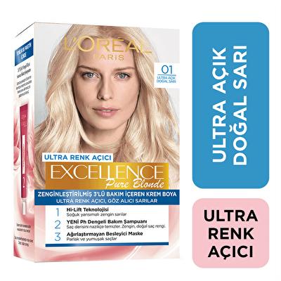 Ultra Açık Doğal Sarı Saç Boyası 01