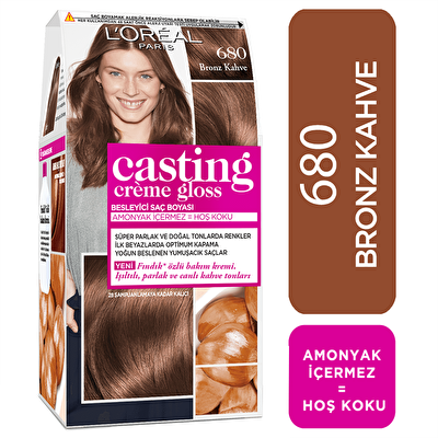 Creme Gloss Saç Boyası Bronz Kahve No: 680