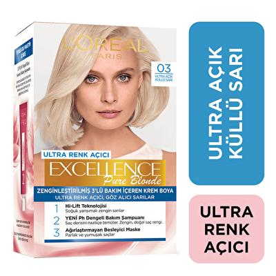Ultra Açık Küllü Sarı Saç Boyası 03