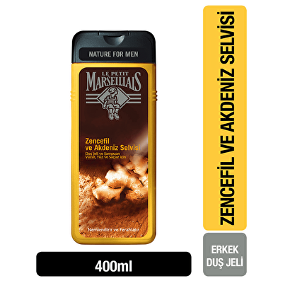 Men Zencefil ve Akdeniz Selvisi Duş Jeli 400 ml