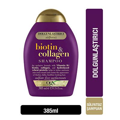 Dolgunlaştırıcı Biotin ve Kolajen Şampuan 385 ml