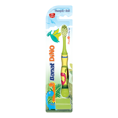 Dino 2+ Yaş Çocuk Diş Fırçası