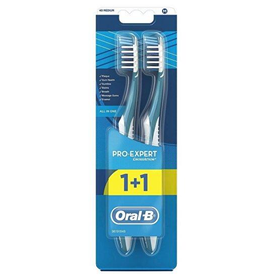 Pro-Expert Komple 7 Diş Fırçası 40 Orta 1 Alana 1 Bedava Paketi