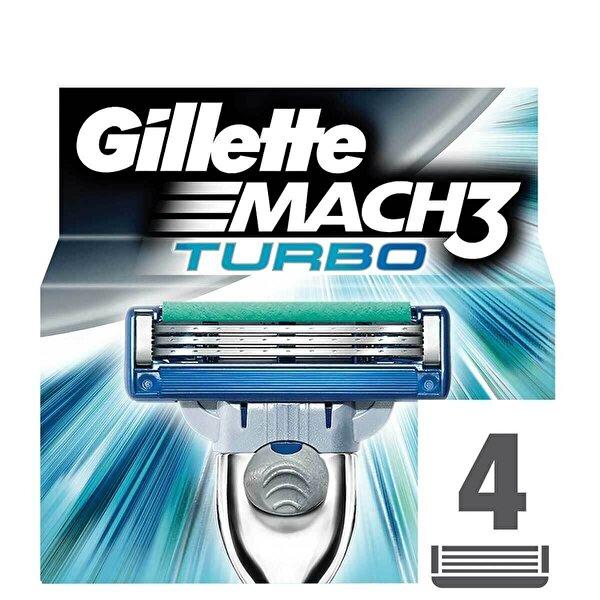 Mach3 Turbo Yedek Tıraş Bıçağı 4 Adet