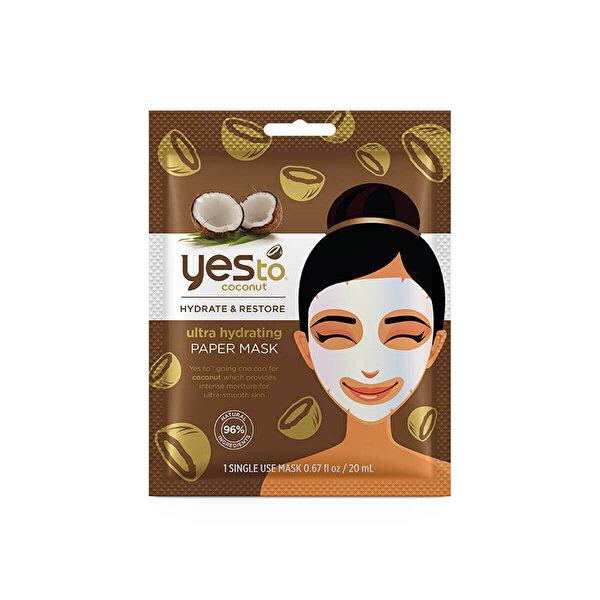 Coconut Nemlendirici Te Kullanimlik Kağıt Maske 20ml
