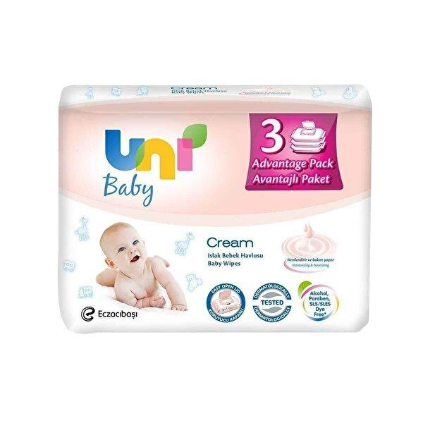 Wipes Cream Islak Havlu 3'lü Paket 64 Adet