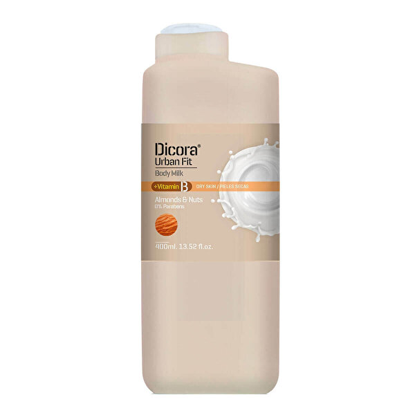 Urban Fit Body Milk Almonds&Nuts Vücut Losyonu 400ml