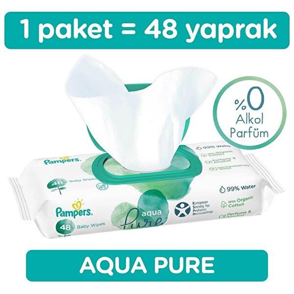 Aqua Pure Bebek Islak Havlu 48 Adet