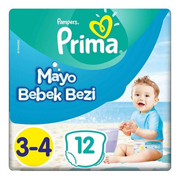 Mayo Bebek Bezi Tekli Paket Midi 3-4 Beden 12 Adet