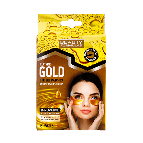 Gold Göz Maskesi 6 Adet