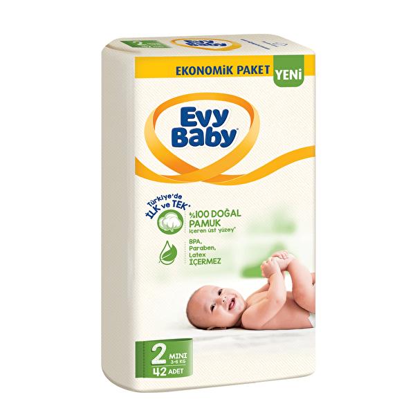 Mini Ekonomik Bebek Bezi 2 Beden 42 Adet