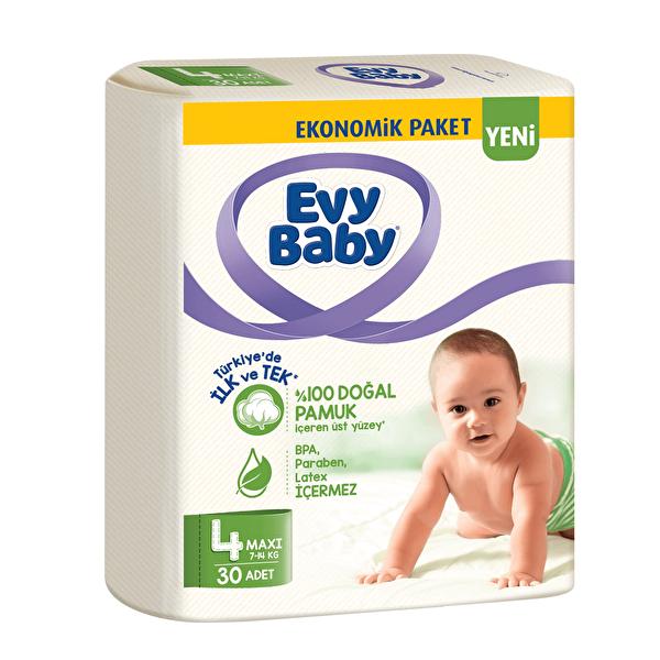 Maxi Ekonomik Bebek Bezi 4 Beden 30 Adet