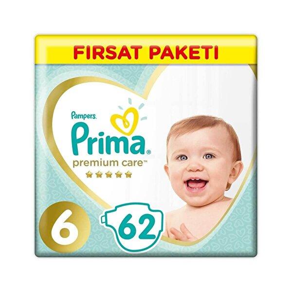 Premium Care Fırsat Paketi Bebek Bezi 6 Beden 62 Adet