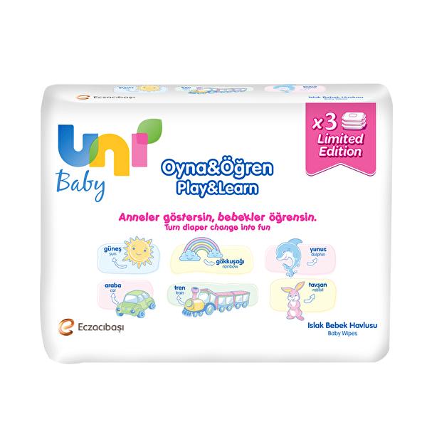 Wipes Oyna ve Öğren Islak Bebek Havlusu 3 Paket 52 Adet