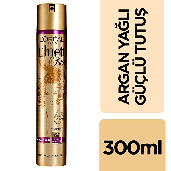 Değerli Argan Yağı Güçlü Tutuş Saç Spreyi 300 ml