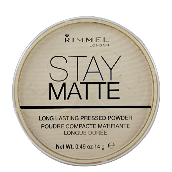 Stay Matte Transparan Pressed Pudra No. 001