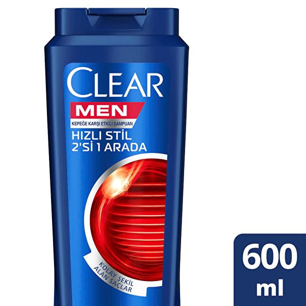Hızlı Stil 2si1 Arada Erkek Şampuanı 600 ml