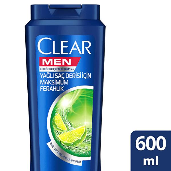 Men Yağlı Saç Derisi İçin Erkek Şampuan 600 ml
