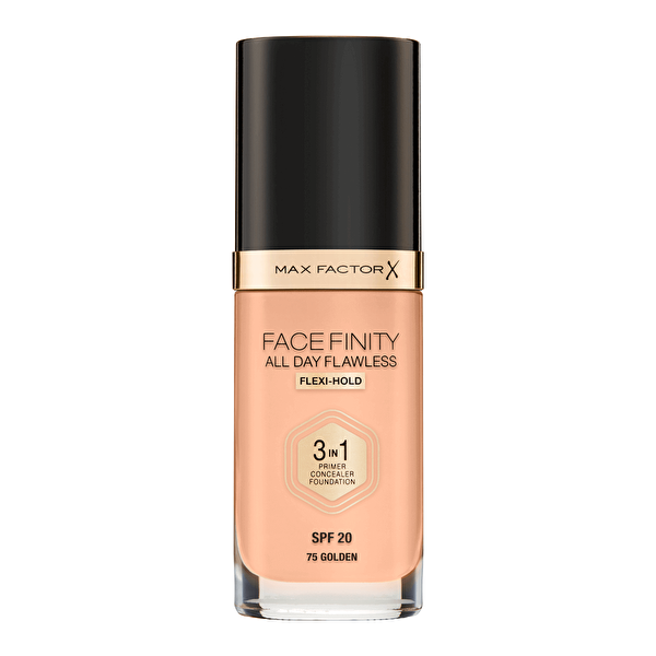 Facefinity 3'ü 1 Arada Fondöten No: 75 Golden