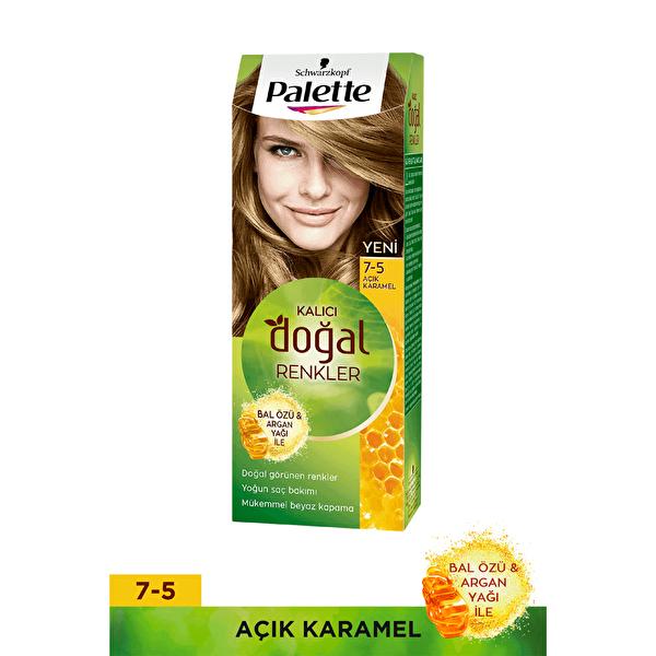 Kalıcı Doğal Renkler Saç Boyası 7-5 Açık Karamel