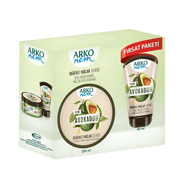 Nem Değerli Yağlar Avokado El ve Vücut Kremi 250 ml ve 60 ml Seti
