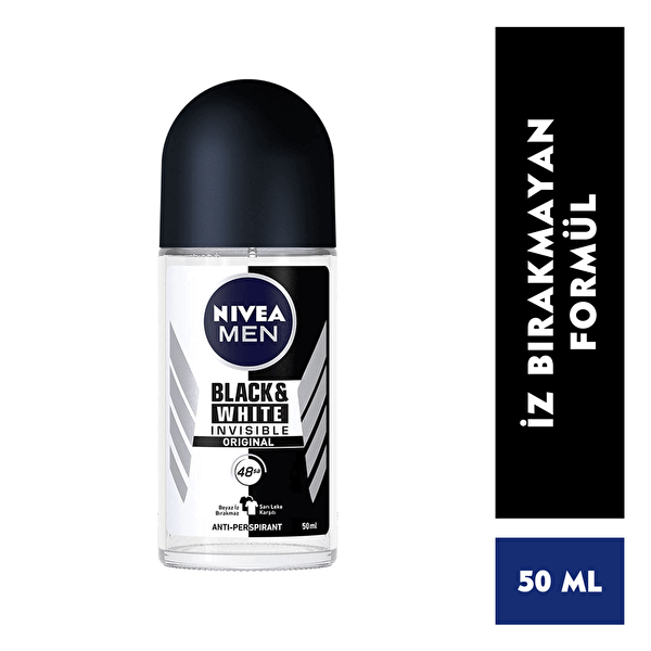 Invisible Black and White Power Erkek Roll-On 50 ml