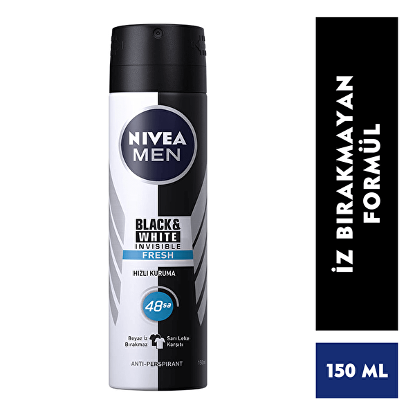 Invisinle Black and White Fresh Erkek Deodorant 150 ml
