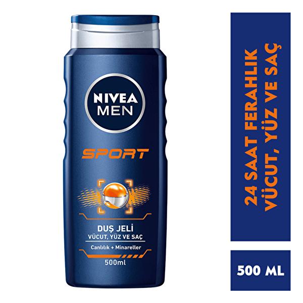 Sport 2'si 1 Arada Erkek Duş Jeli 500 ml