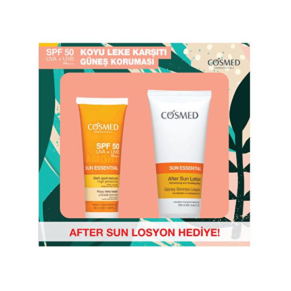 Sun Essential Lekeli Ciltler İçin SPF 50 50 ml ve After Sun Seti