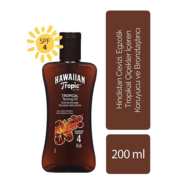 Tropical Dry Koruyucu ve Bronzlaştırıcı Yağ Spf 4 200 ml