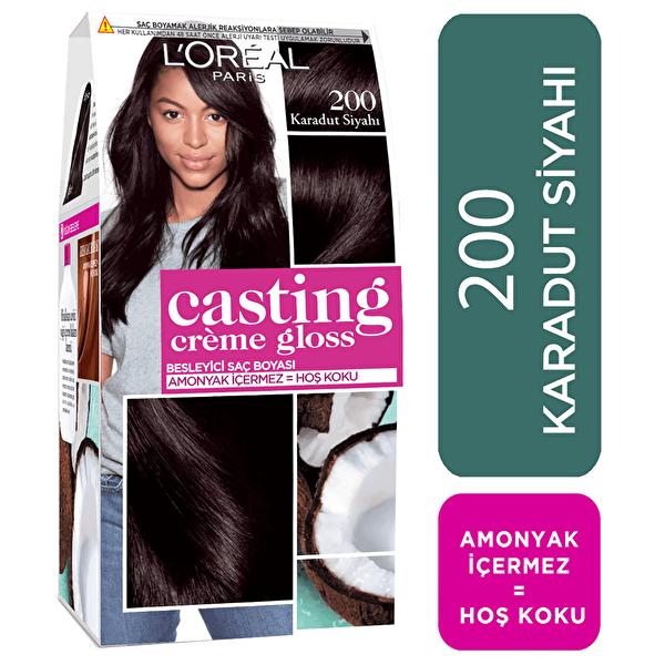 Creme Gloss Saç Boyası Karadut Siyahı No: 200