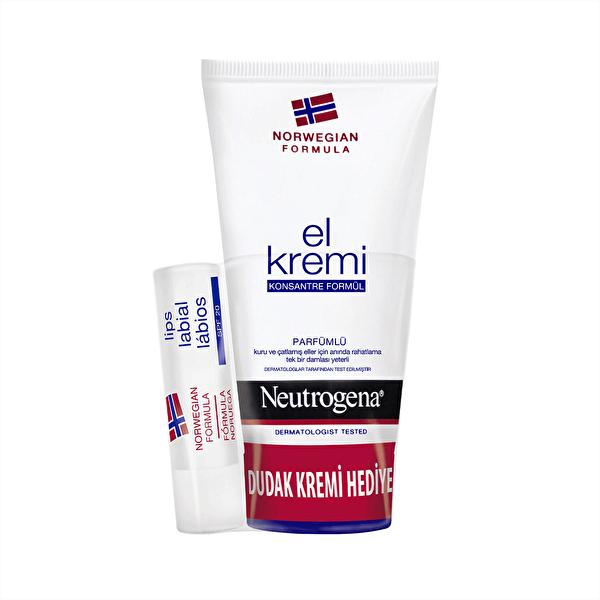 El Kremi 75 ml + Hediye Dudak Nemlendiricisi Seti Parfümlü