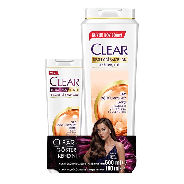 Saç Dökülmesine Karşı Şampuan 600 ml ve 180 ml Seti