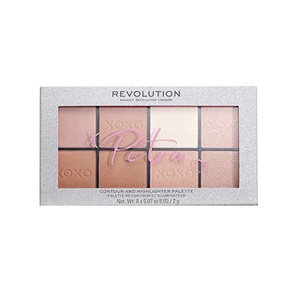 X Petra Xoxo Contour and Highlighter Palette