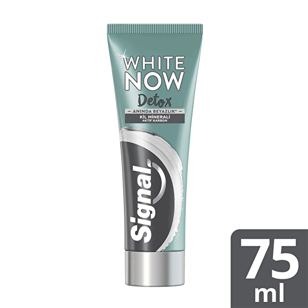White Now Detox Charcoal Aktif Kömür Diş Macunu 75 ml
