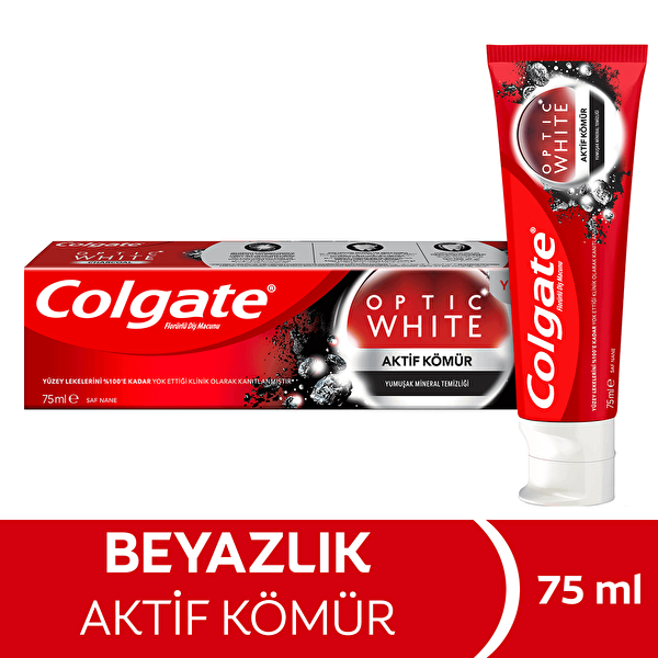Optik White Aktif Kömür Diş Macunu 75 ml