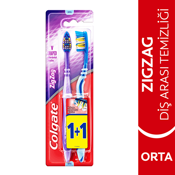 Zig Zag Diş Arası Temizliği Orta Diş Fırçası 1+1