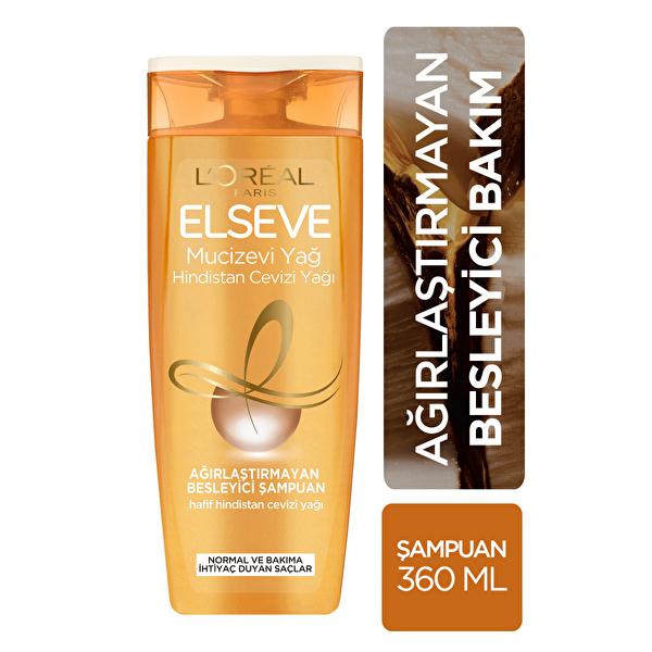Mucizevi Hindistan Cevizi Yağı Ağırlaştırmayan Besleyici Şampuan 360 ml